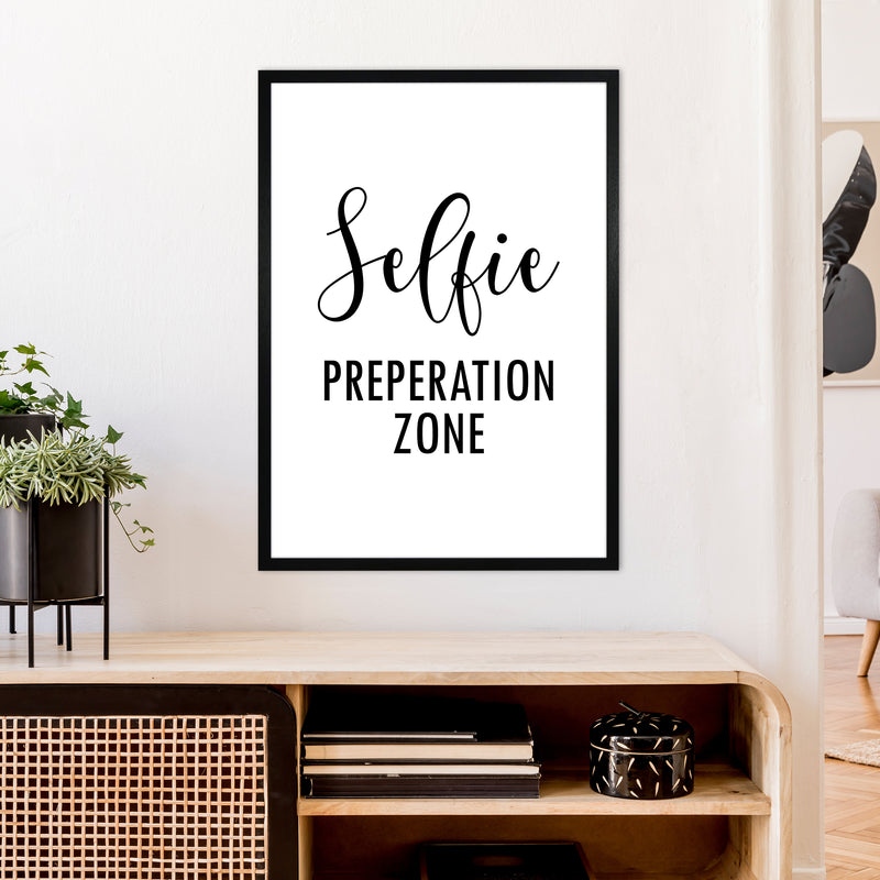 Selfie Preperation Zone  Art Print by Pixy Paper A1 White Frame