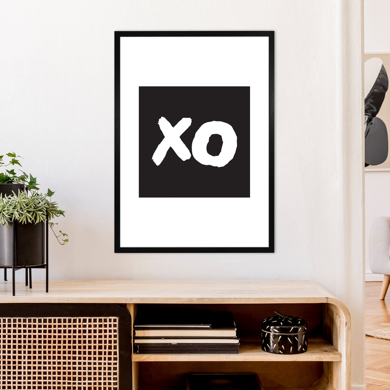 Xo Black Box  Art Print by Pixy Paper A1 White Frame