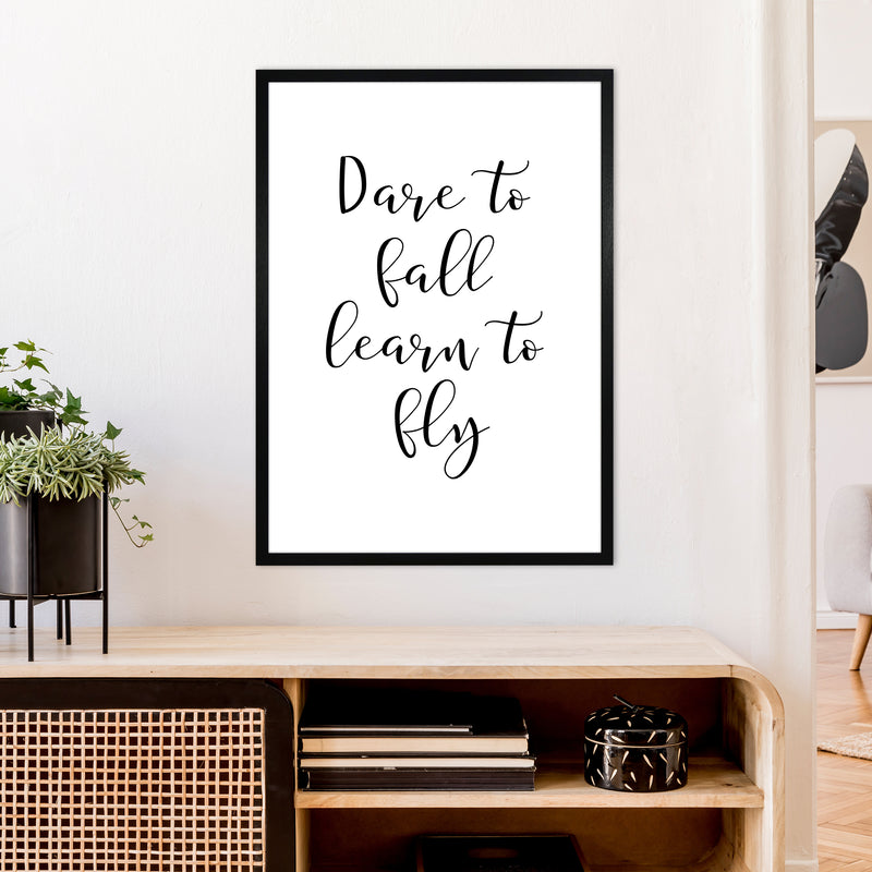 Dare To Fall  Art Print by Pixy Paper A1 White Frame