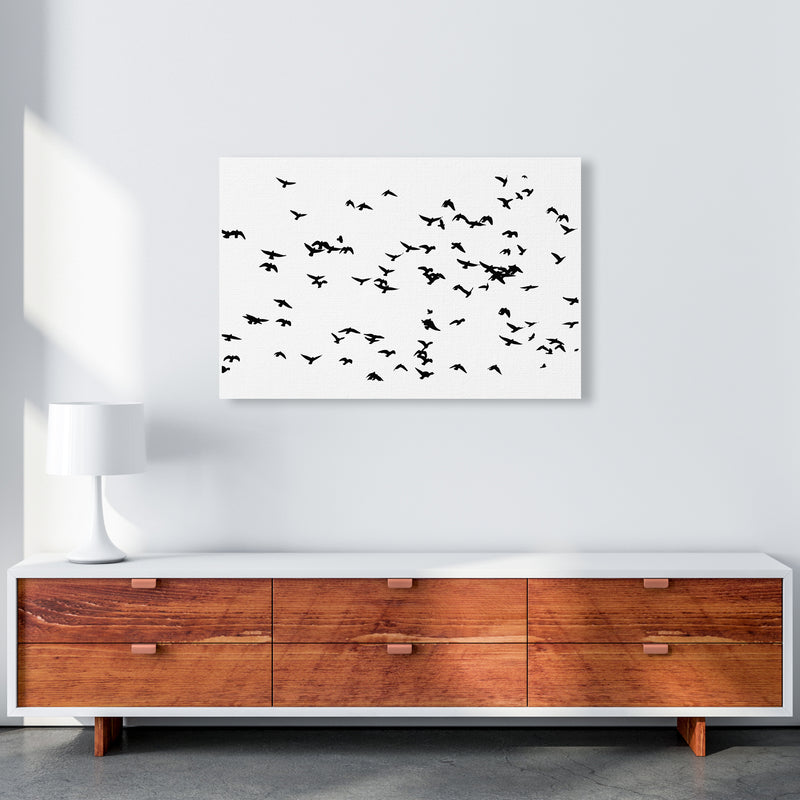Flock Of Birds Landscape Art Print by Pixy Paper A1 Canvas