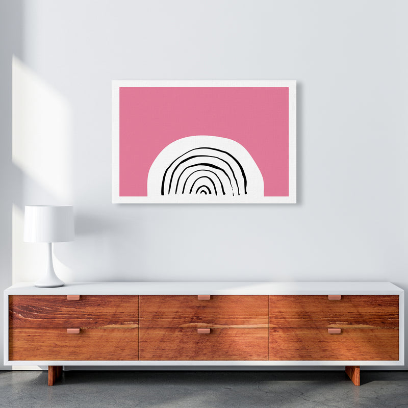Pink Rainbow Neon Funk  Art Print by Pixy Paper A1 Canvas