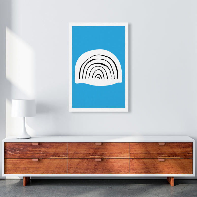 Blue Rainbow Neon Funk  Art Print by Pixy Paper A1 Canvas
