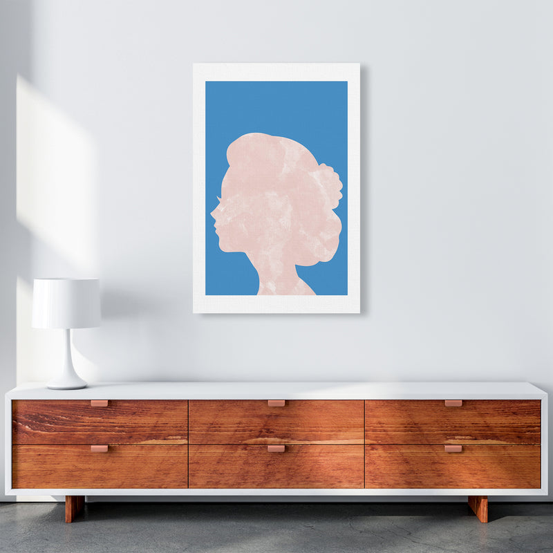 Marble Head Blue  Art Print by Pixy Paper A1 Canvas
