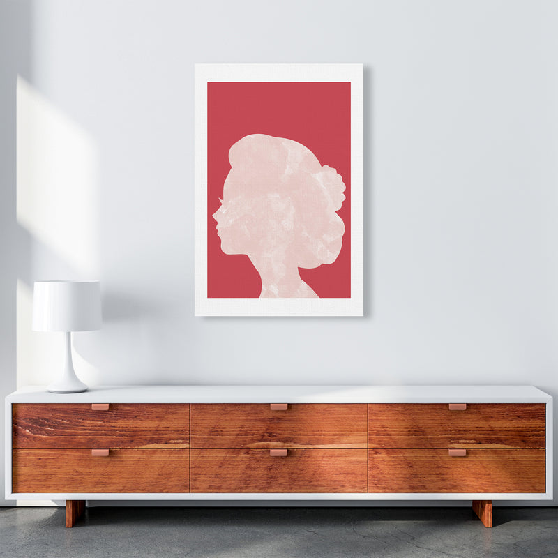 Marble Head Red  Art Print by Pixy Paper A1 Canvas