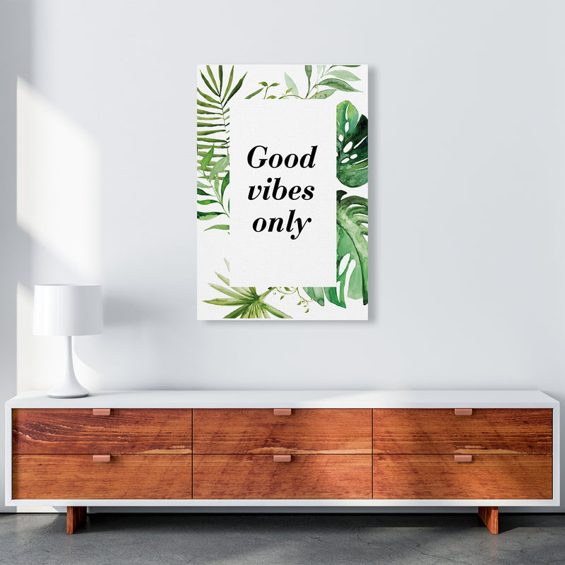 Good Vibes Only Exotic  Art Print by Pixy Paper A1 Canvas