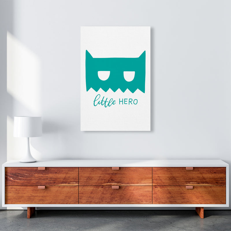 Little Hero Mask Teal Super Scandi  Art Print by Pixy Paper A1 Canvas