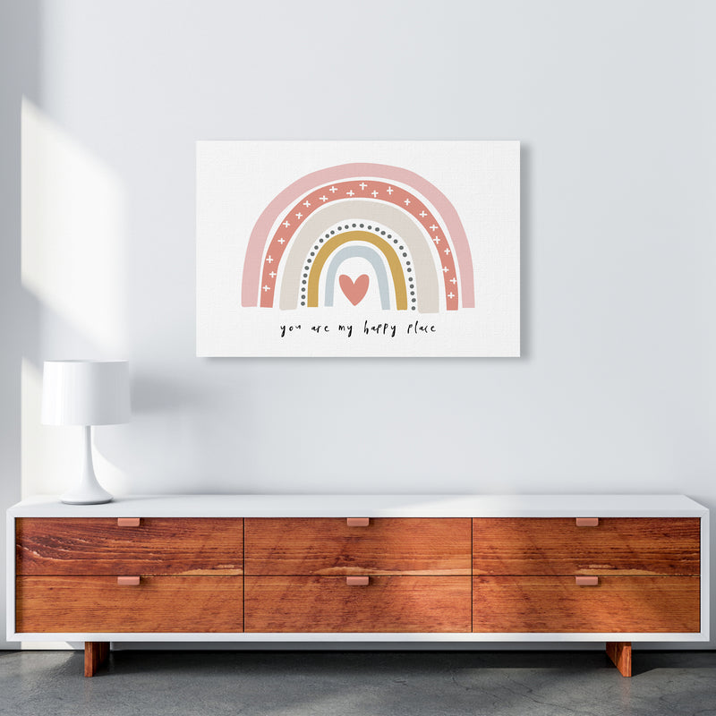 You Are My Happy Place Rainbow  Art Print by Pixy Paper A1 Canvas