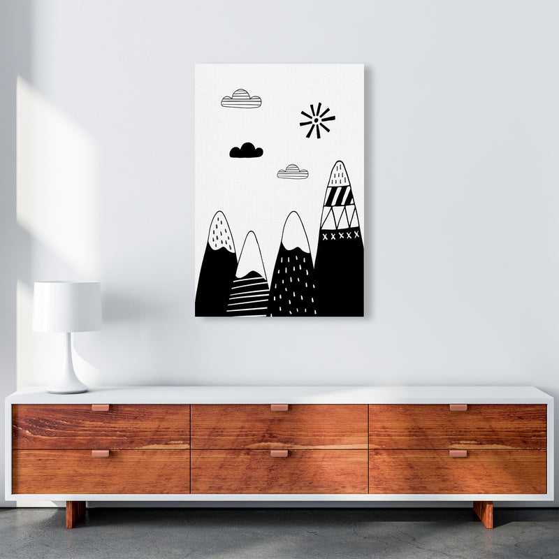 Scandinavian Mountains  Art Print by Pixy Paper A1 Canvas