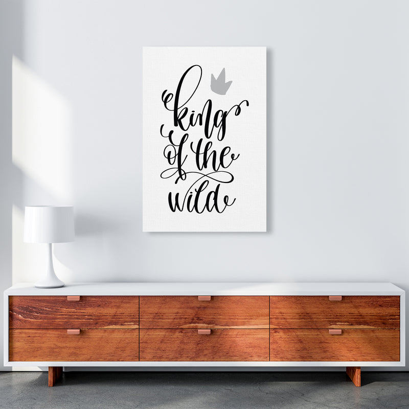 King Of The Wild Black  Art Print by Pixy Paper A1 Canvas