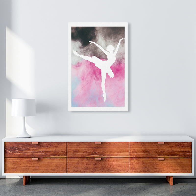 Ballerina Watercolour  Art Print by Pixy Paper A1 Canvas