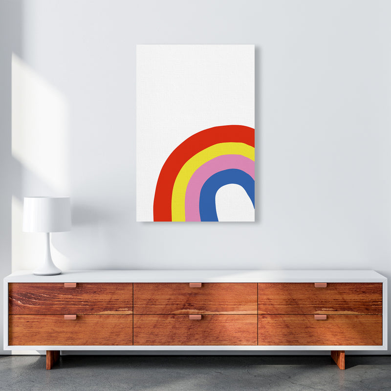 Rainbow In Corner  Art Print by Pixy Paper A1 Canvas