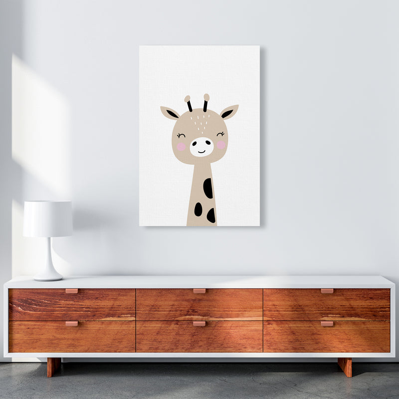 Giraffe Brown  Art Print by Pixy Paper A1 Canvas