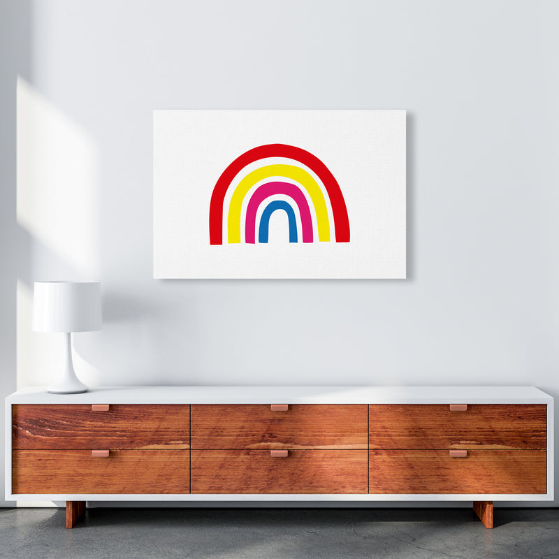 Rainbow Red  Art Print by Pixy Paper A1 Canvas