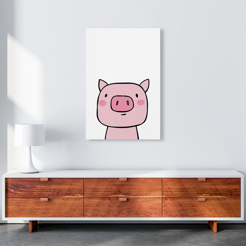 Pig  Art Print by Pixy Paper A1 Canvas
