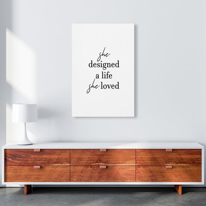 She Designed A Life  Art Print by Pixy Paper A1 Canvas