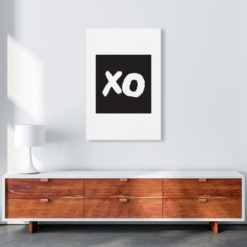 Xo Black Box  Art Print by Pixy Paper A1 Canvas