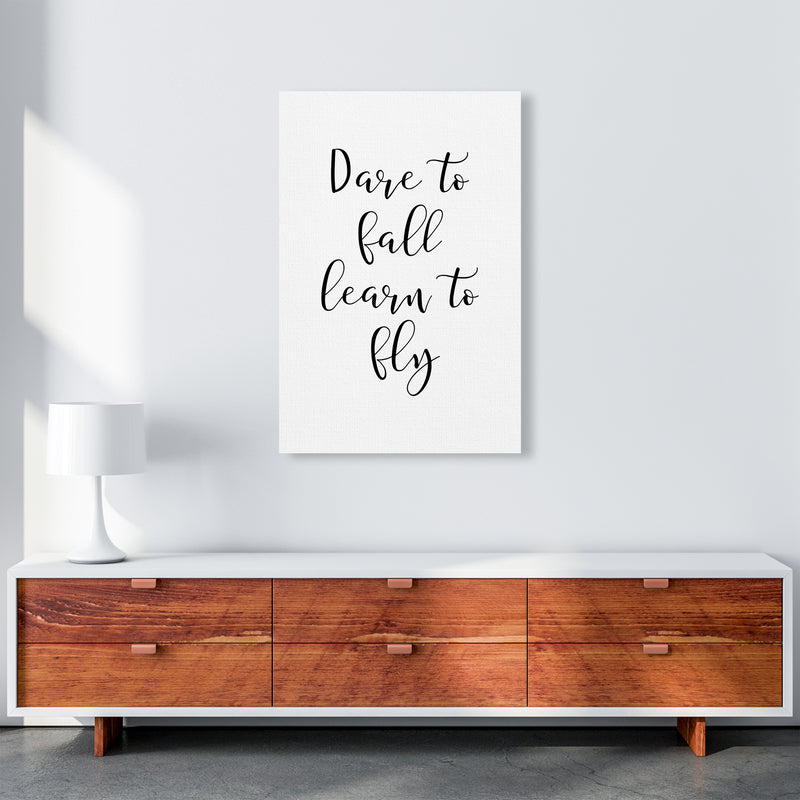 Dare To Fall  Art Print by Pixy Paper A1 Canvas