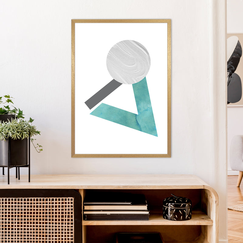 Marble Teal And Silver 3 Art Print by Pixy Paper A1 Print Only