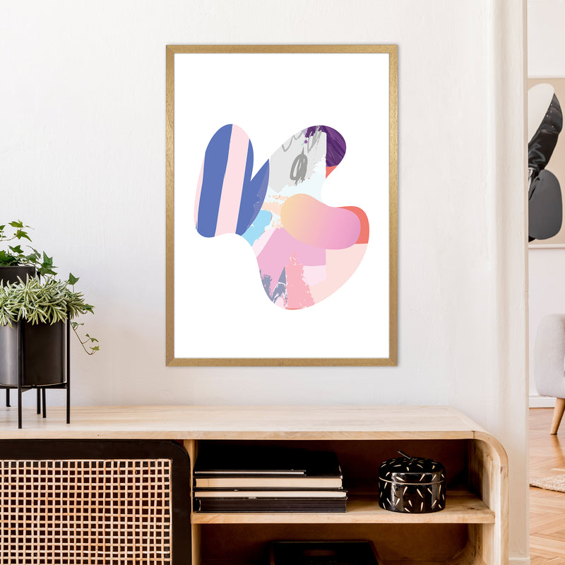 Pink Butterfly Abstract Shape  Art Print by Pixy Paper A1 Print Only
