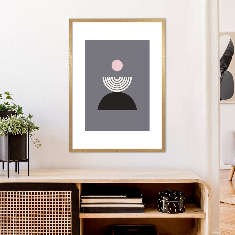 Mila Pink Fountain N9  Art Print by Pixy Paper A1 Print Only
