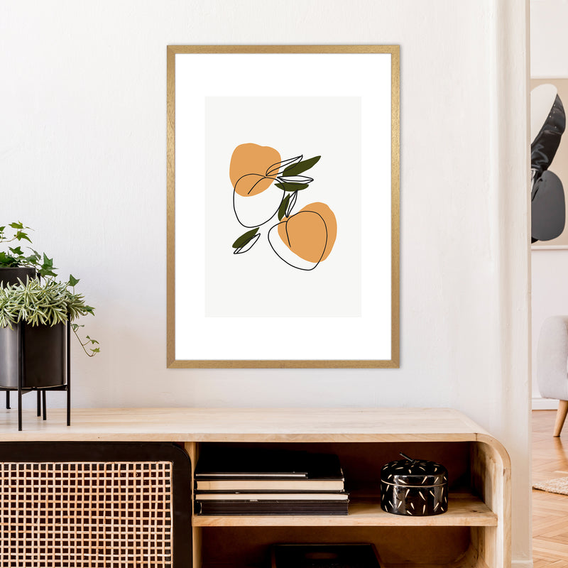 Mica Apricots N3  Art Print by Pixy Paper A1 Print Only