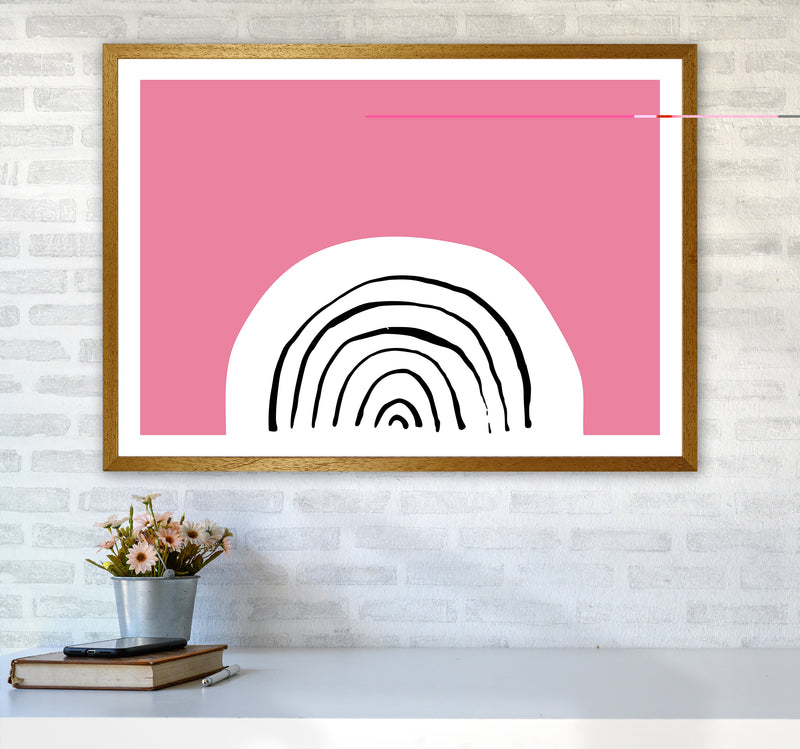 Pink Rainbow Neon Funk  Art Print by Pixy Paper A1 Print Only