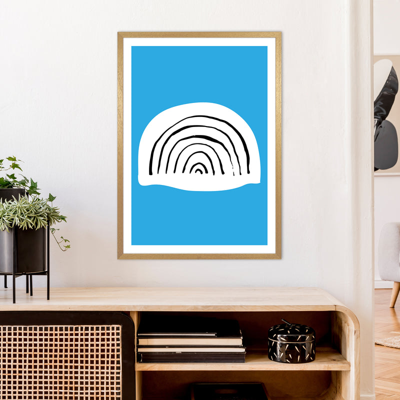 Blue Rainbow Neon Funk  Art Print by Pixy Paper A1 Print Only