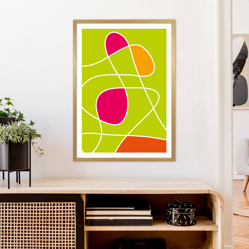 Lime Mess Neon Funk  Art Print by Pixy Paper A1 Print Only