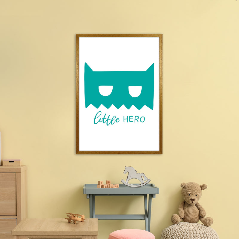 Little Hero Mask Teal Super Scandi  Art Print by Pixy Paper A1 Print Only