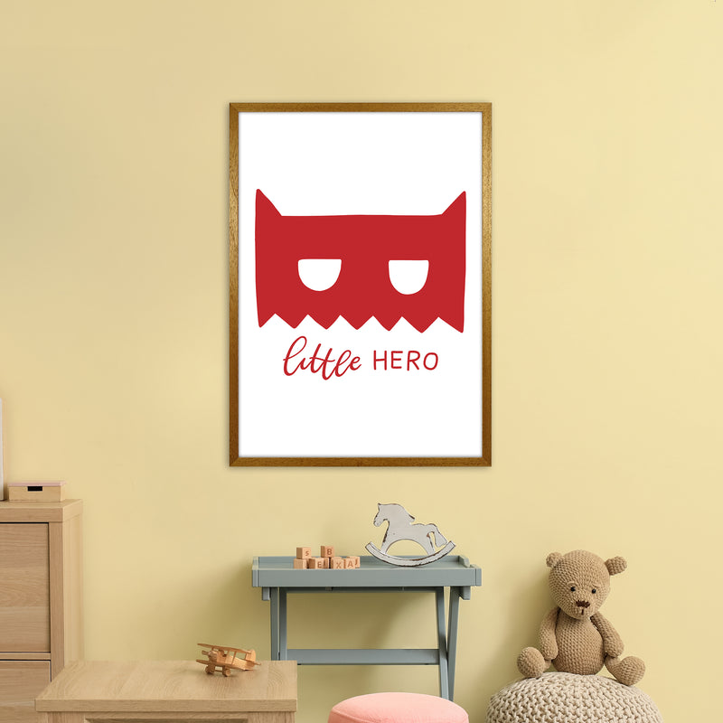 Little Hero Mask Red Super Scandi  Art Print by Pixy Paper A1 Print Only