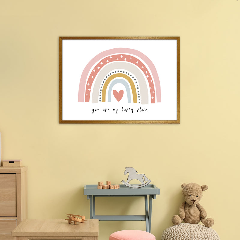 You Are My Happy Place Rainbow  Art Print by Pixy Paper A1 Print Only