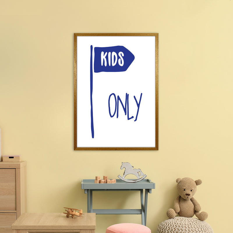 Kids Only Navy  Art Print by Pixy Paper A1 Print Only
