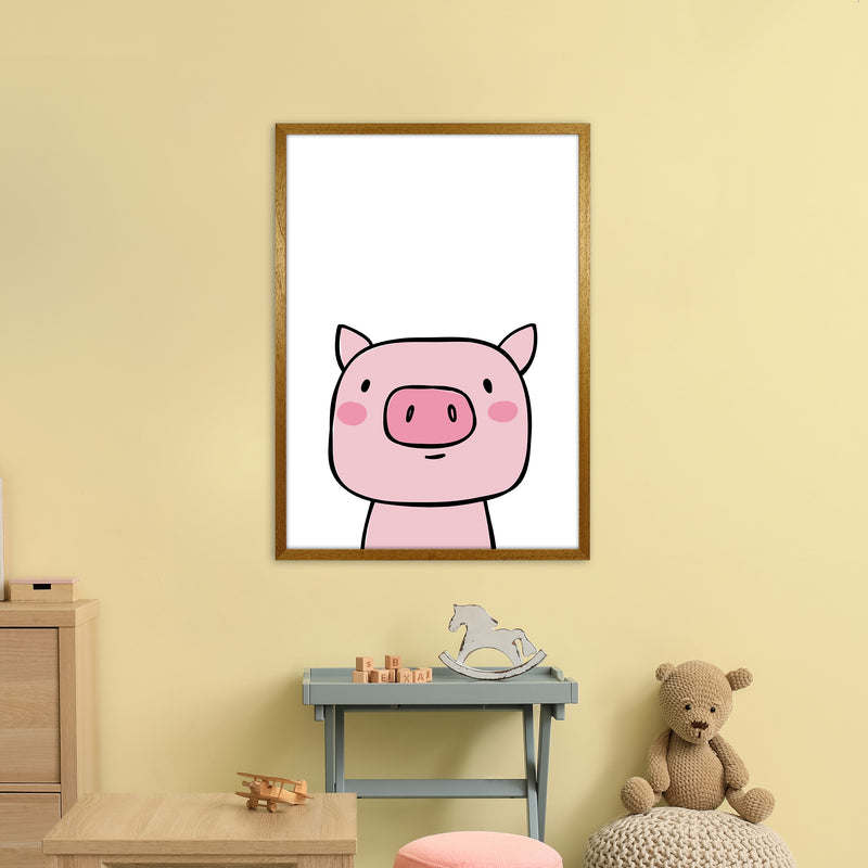 Pig  Art Print by Pixy Paper A1 Print Only