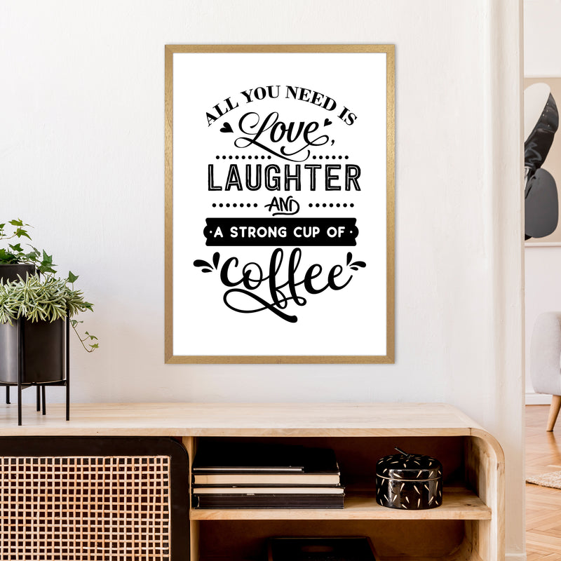 All You Need Is Love And Coffee  Art Print by Pixy Paper A1 Print Only