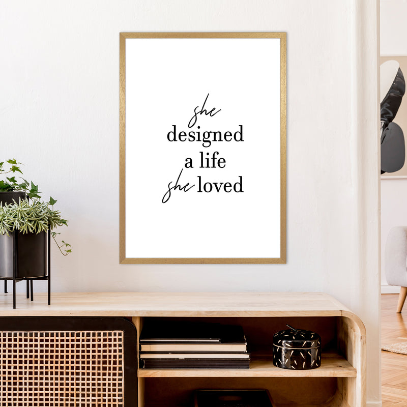 She Designed A Life  Art Print by Pixy Paper A1 Print Only