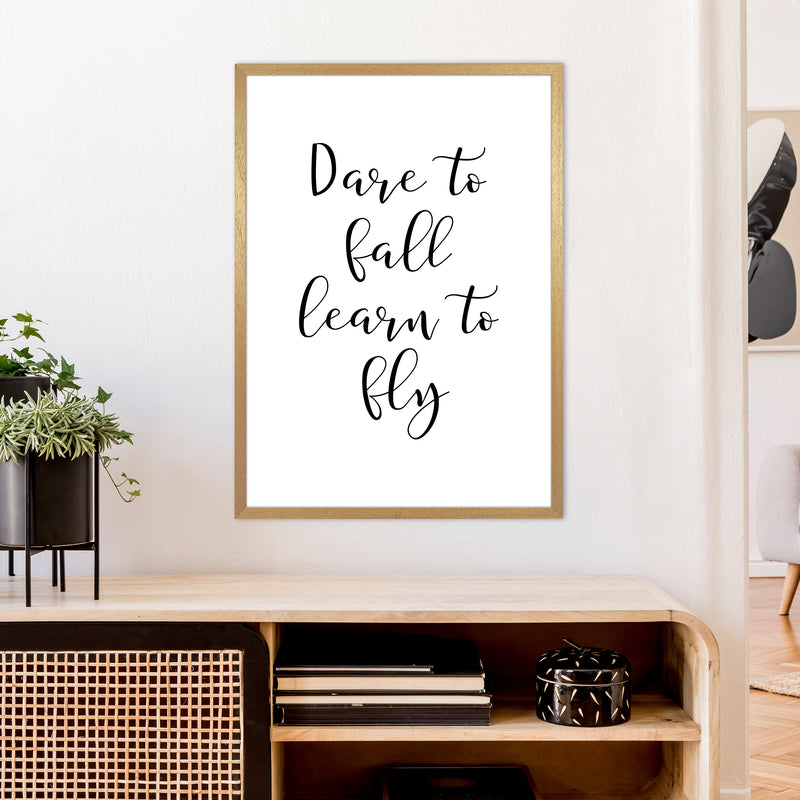 Dare To Fall  Art Print by Pixy Paper A1 Print Only