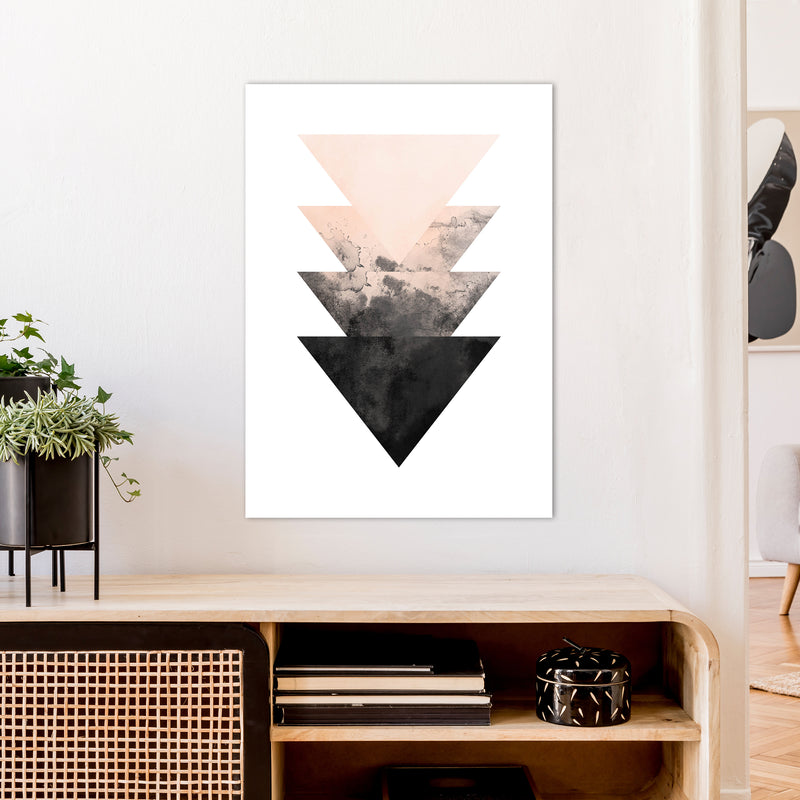 Nude And Black Watercolour 4 Art Print by Pixy Paper A1 Black Frame
