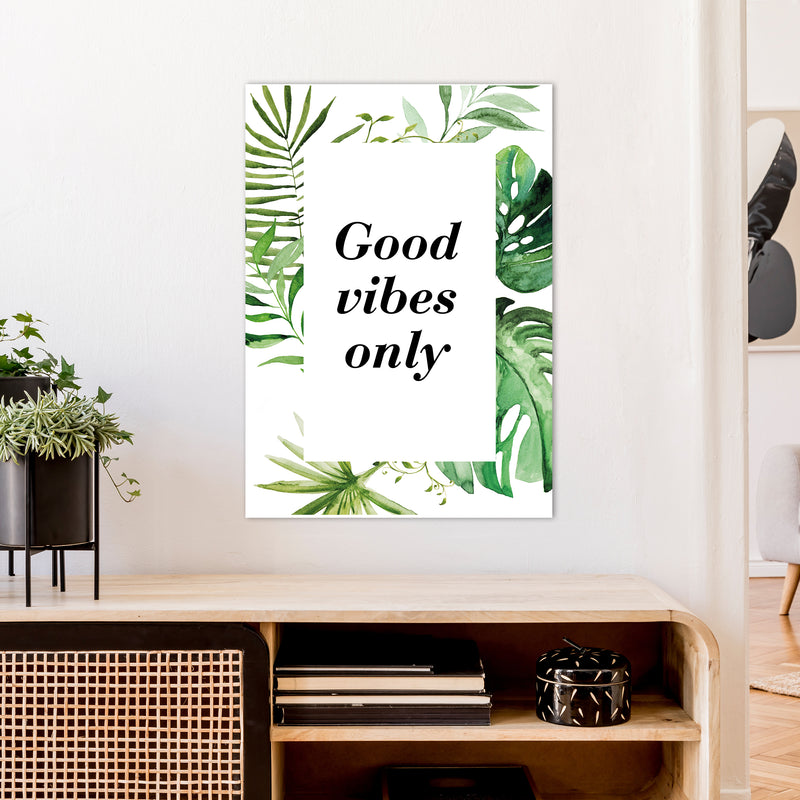 Good Vibes Only Exotic  Art Print by Pixy Paper A1 Black Frame