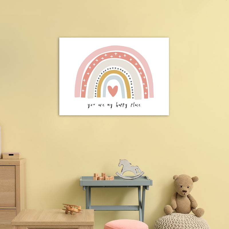 You Are My Happy Place Rainbow  Art Print by Pixy Paper A1 Black Frame