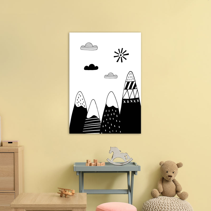 Scandinavian Mountains  Art Print by Pixy Paper A1 Black Frame
