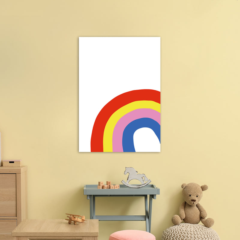 Rainbow In Corner  Art Print by Pixy Paper A1 Black Frame