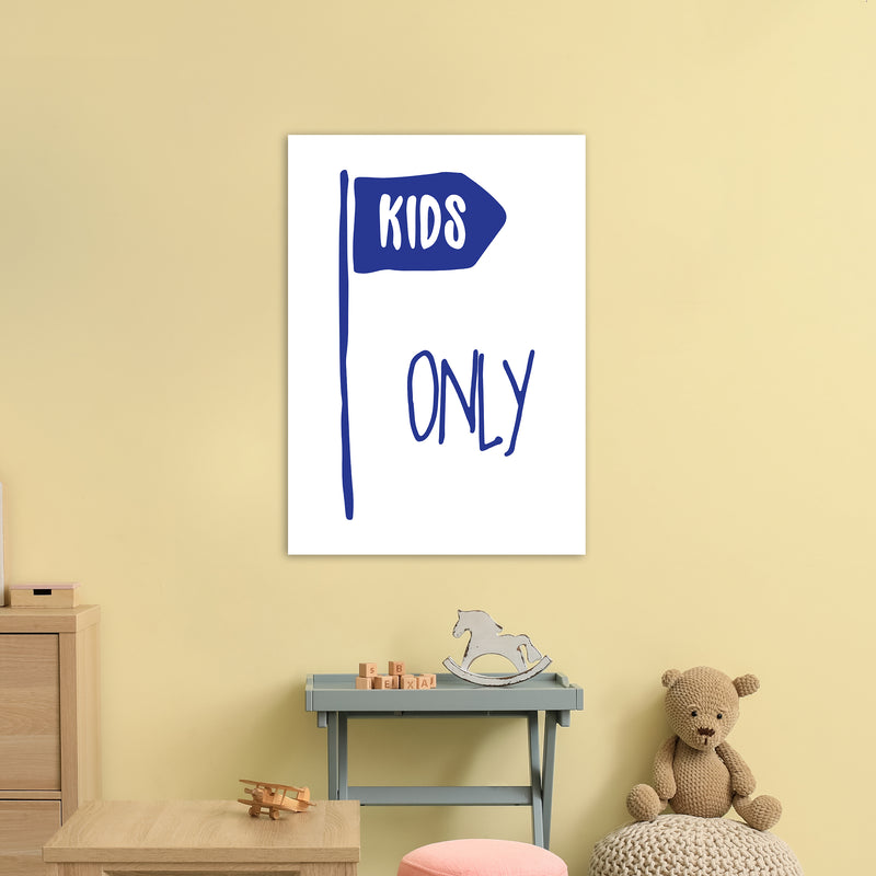 Kids Only Navy  Art Print by Pixy Paper A1 Black Frame