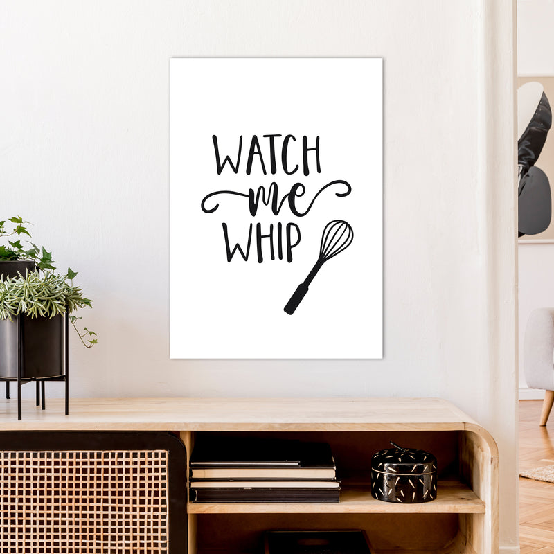Watch Me Whip  Art Print by Pixy Paper A1 Black Frame