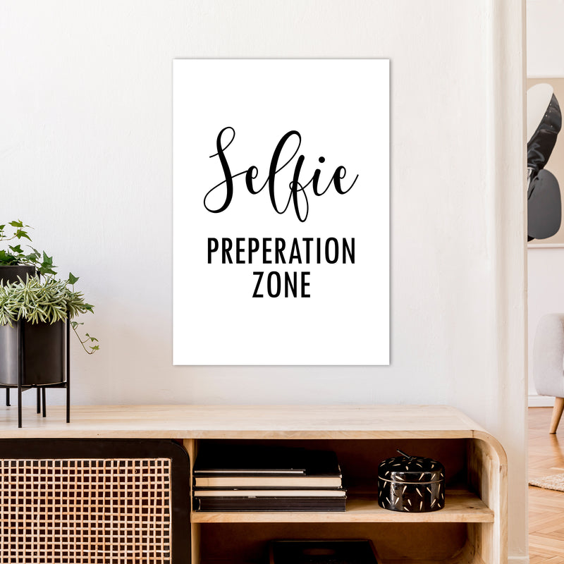 Selfie Preperation Zone  Art Print by Pixy Paper A1 Black Frame