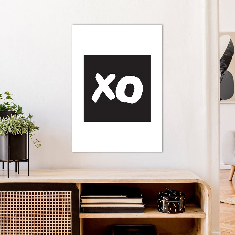 Xo Black Box  Art Print by Pixy Paper A1 Black Frame