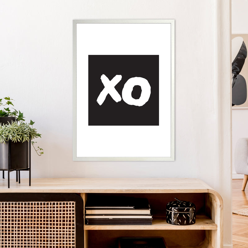 Xo Black Box  Art Print by Pixy Paper A1 Oak Frame