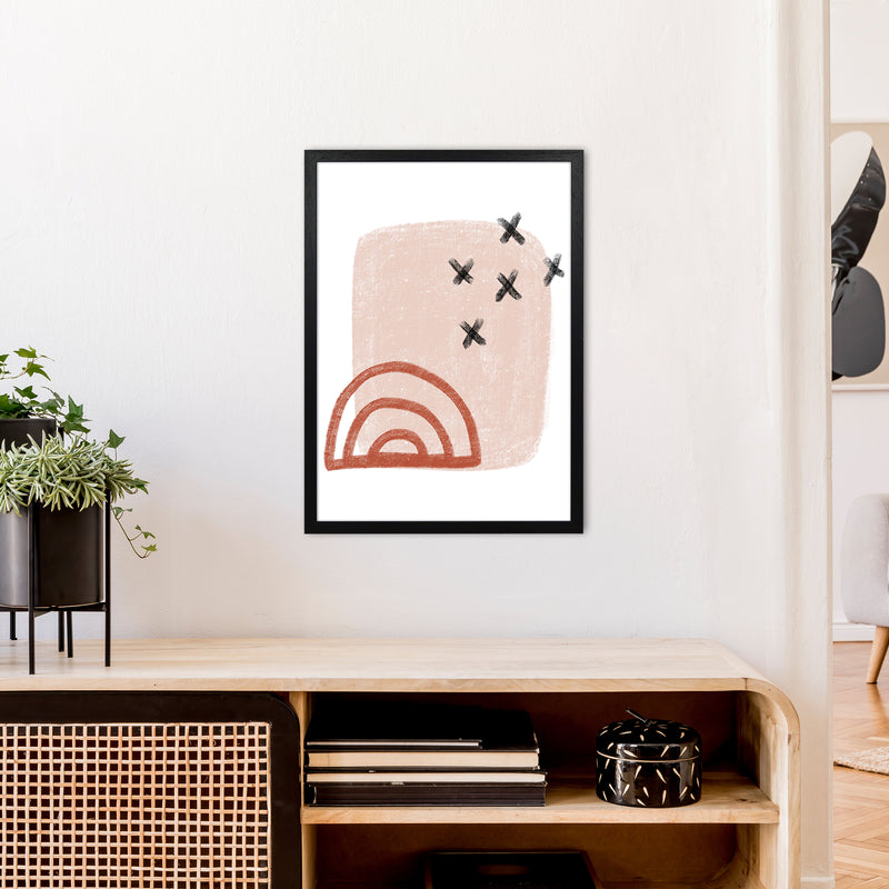 Dalia Chalk Red Rainbow  Art Print by Pixy Paper A2 White Frame