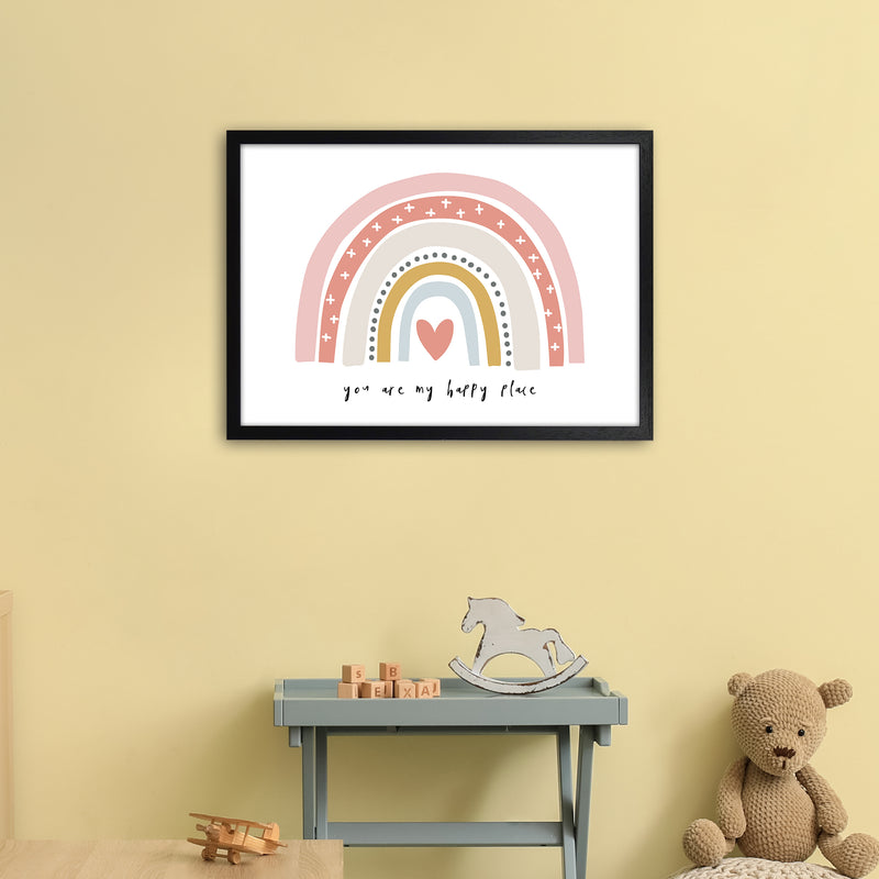 You Are My Happy Place Rainbow  Art Print by Pixy Paper A2 White Frame
