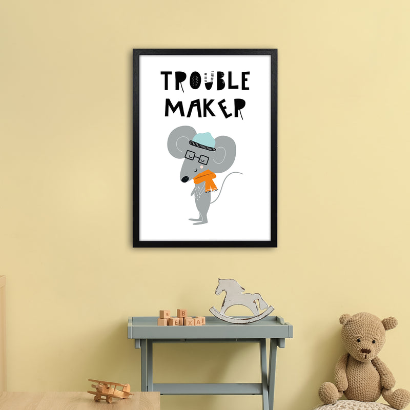 Trouble Maker Animal Pop  Art Print by Pixy Paper A2 White Frame