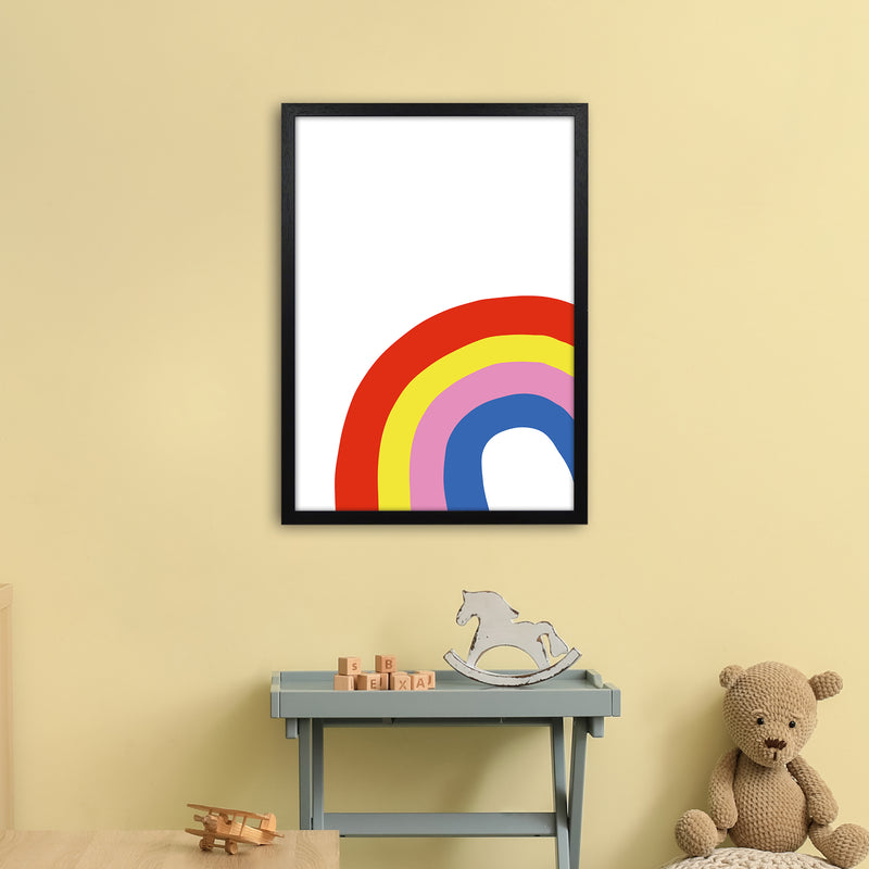 Rainbow In Corner  Art Print by Pixy Paper A2 White Frame